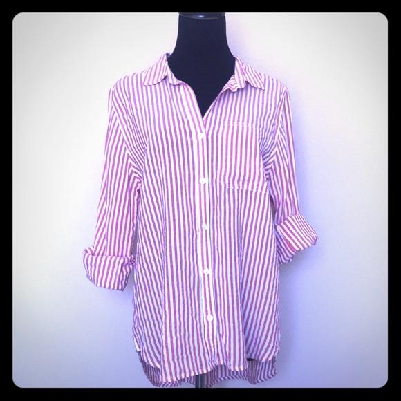 c716984a Velvet Heart Tops | Striped Long Sleeve Button Down Blouse | Poshmark